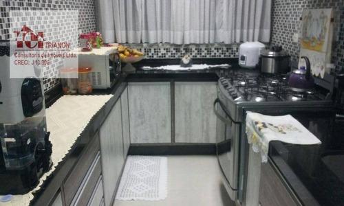 Cobertura Com 2 Dormitórios À Venda, 104 M² Por R$ 355.000,00 - Vila Tibiriçá - Santo André/sp - Co0960