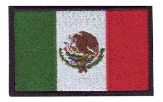 Parche Bordado Bandera Mexico Uso Militar/tactico