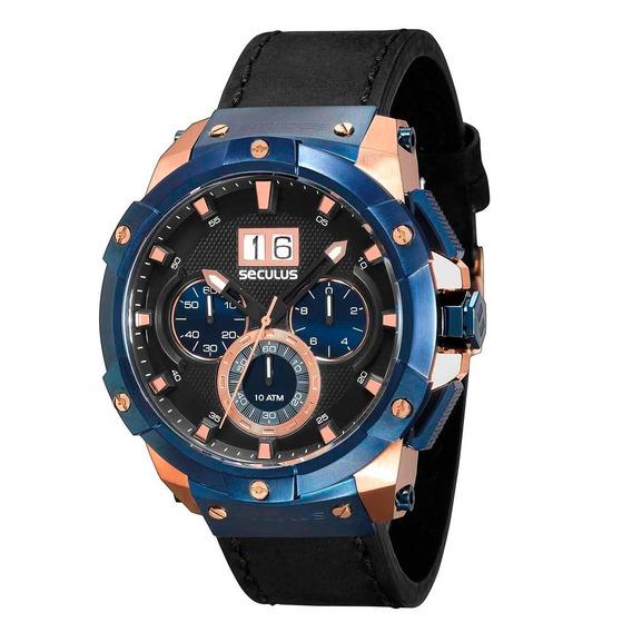 Relógio Masculino Analógico Seculus Upper 13008gpsvrc3