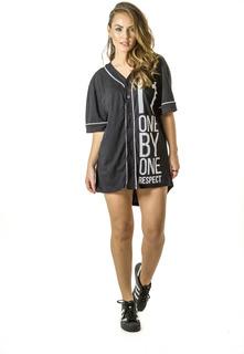 Camisa Feminina Baseball Brohood Preto