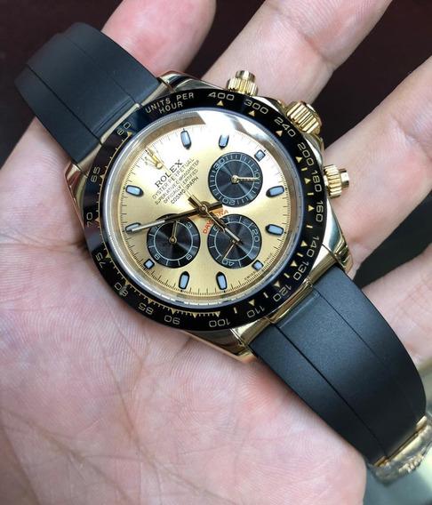 Relógio Masculino Daytona Aro Cerâmica Borracha