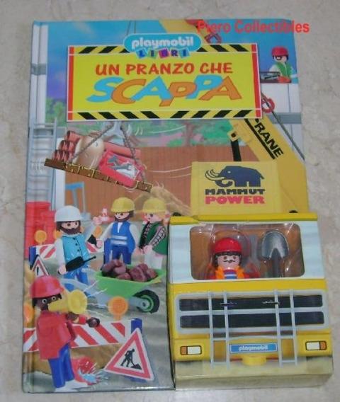 Playmobil Livro Com Bonecos E Cenários (itália) - Obras City