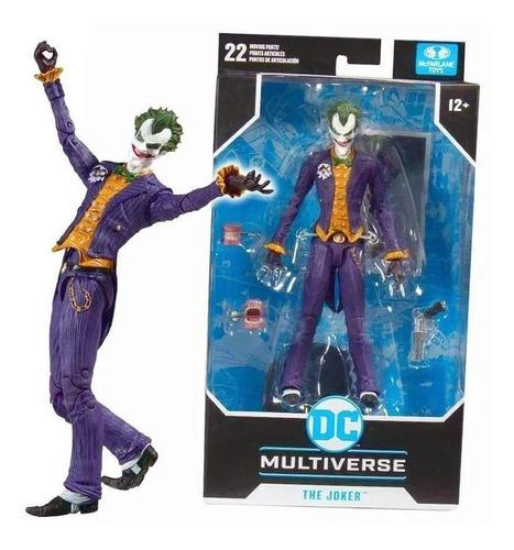 Figura Dc Mcfarlane Boneco Arkham Asylum Joker
