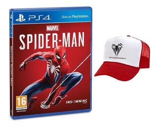 Spiderman Ps4 + Gorra. Español Latino. Físico. Sellado