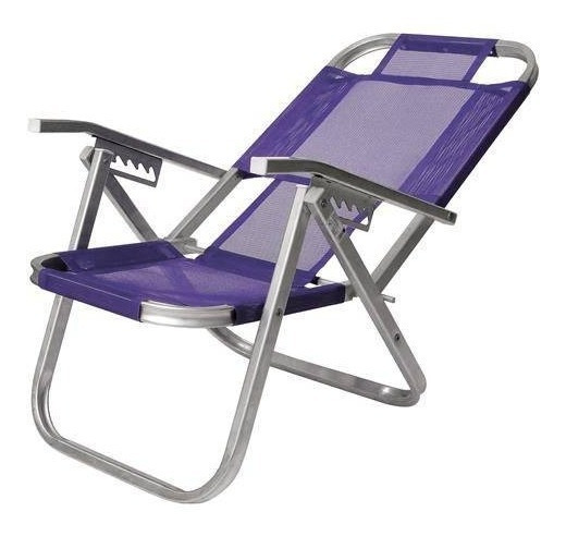 Cadeira De Praia Alumínio Alta Ipanema - Roxa - Botafogo