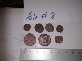Lote #8 De Siete Piezas Monedas Romanas Auténtico
