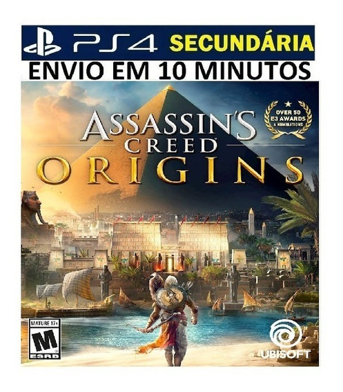 Assassins Creed Origins Ps4 Original 2 Secundária Português