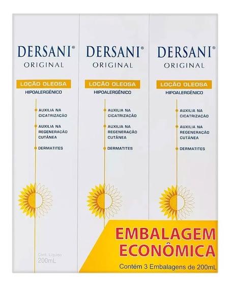 Dersani Original Loção Oleosa Corporal Emb Econômica 3x200ml