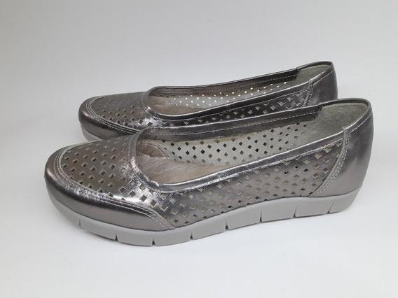 Zapatos Chatitas De Cuero Vacuno Mocasin Ballerinas Picadas