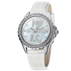 Relógio Feminino Analógico Just Cavalli Wj20288s - Branco