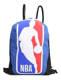 Sacola Mochilete Bolsinha Logo Nba Basquete Gym Pack