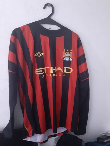 Camisa Manchester City 2012 Manga Longa Umbro