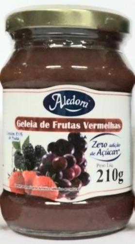 Imagem 1 de 10 de Geléia Zero Açucar - Frutas Vermelhas  210g