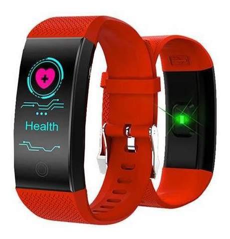 Smartband Smartwatch Com Frequência Cardiaca Vermelho