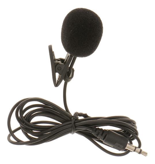 fxco 3,5/mm Clip en Mini micr/ófono Solapa de corbata Manos Libres Lavalier Mic para Laptop PC BK