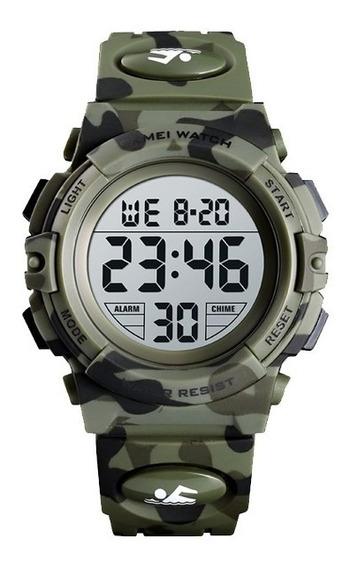 Reloj Digital Infantil Skmei Deportivo 5 Atm 7 Luces Led