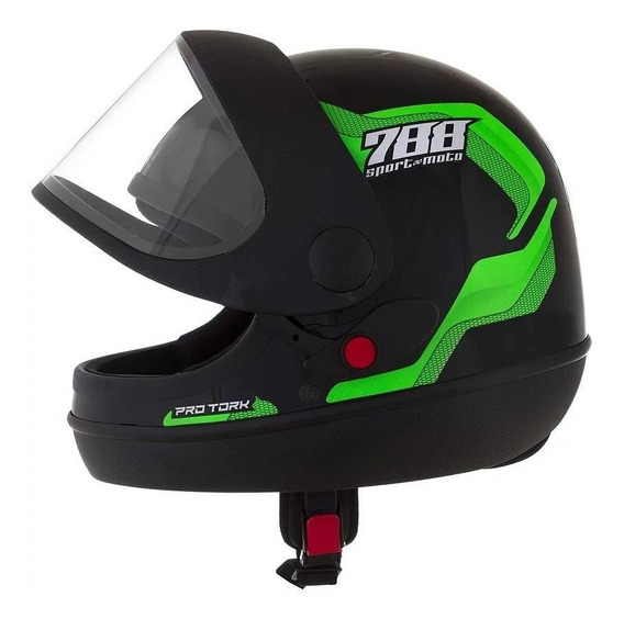 Capacete para moto integral Pro Tork Sport Moto 788 verde S