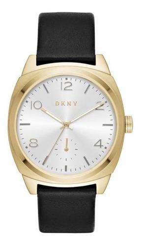 Relógio Pulso Feminino Dkny Aço Dourado Pulseir Couro Ny2537