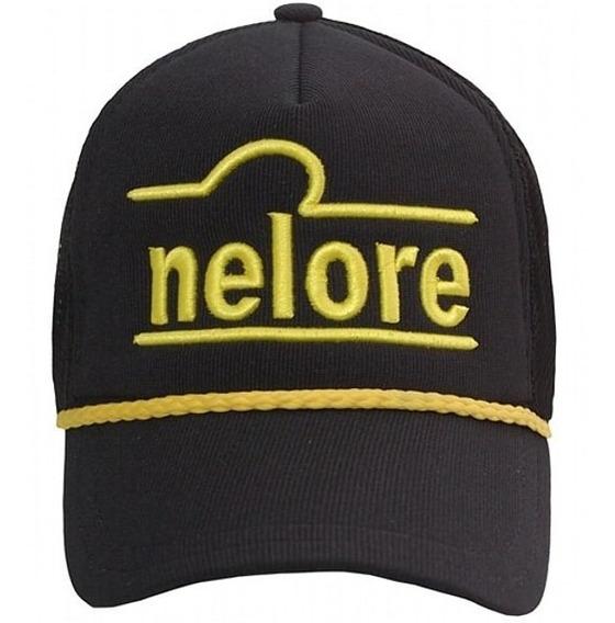 Boné Nelore - Preto E Amarelo