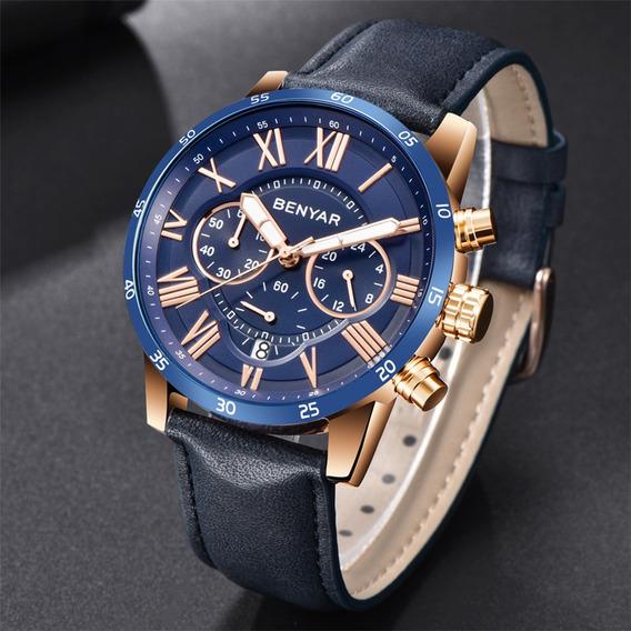 Relógio Masculino Benyar Original Pronta Entrega Modelo 5139