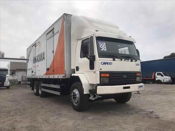 Caminhao Ford Cargo 1415 6x2 1998 Bau 8,5metros