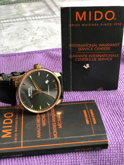 Relógio Mido Baroncelli Dourado Automático