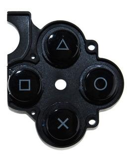 Botones Con Goma Para La Serie De Psp 3001 Negro, Nuevo