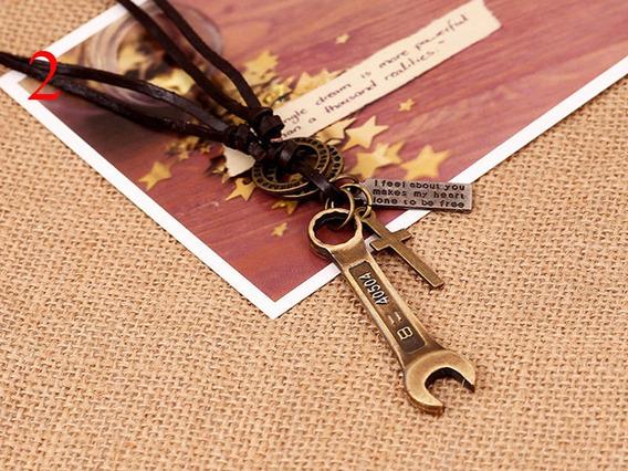 Colar Vintage Masculino (chave Mecânico) Dourado