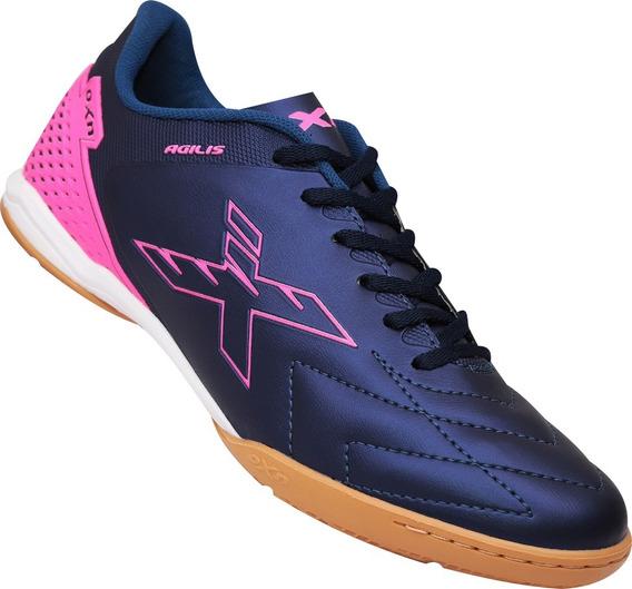 Tênis Futsal Oxn Agilis Femino Marinho Pink Original