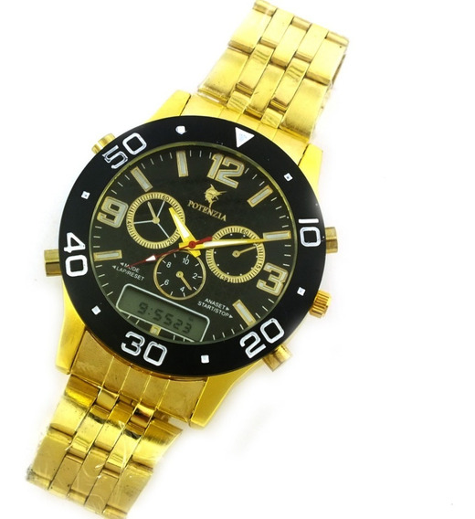 Relógio Masculino Potenza Analógico Com Pulseira Metal B5653