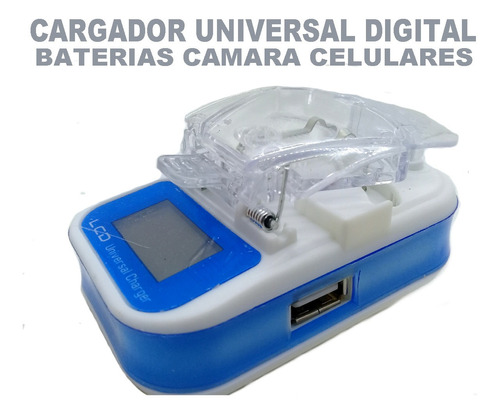 Cargador Universal Bateria Camara Digital Celulres