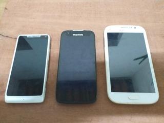 Samsung Gran Duos + Positivo S480 + Motorola Xt890