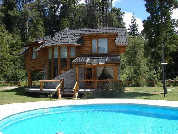 Alquiler Turístico Cabaña Manzano C/pileta En Verano P/5pax Villa La Angostura