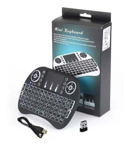 Mini Teclado Wireless Touch Pad Pc Android Tv Smart Com Led