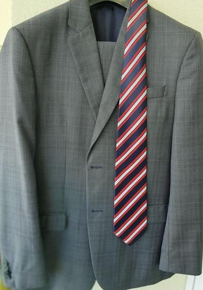 Terno Brooksfield Cinza Brooksgold Luxury + Brinde Gravata