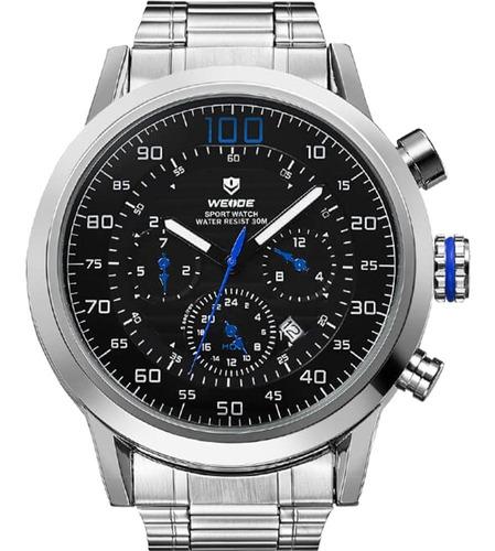 Relógio Masculino Weide Prata Wh3311-3c