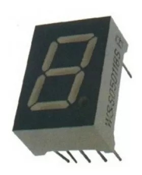 50 Peças - Display 7 Segmentos 1 Dígito Vermelho Anodo Comum