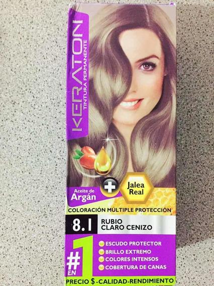 Tintes Para Cabellos Keraton C/aceite De Argan Kit Completo