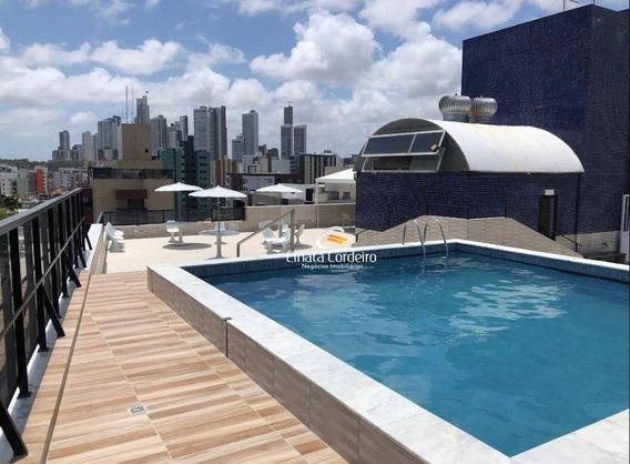 Flat Com 1 Dormitório Para Alugar, 30 M² Por R$ 3.000/mês - Tambaú - João Pessoa/pb - Fl0094