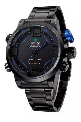 Reloj Hombre Weide Deportivo De Acero Analógico Digital