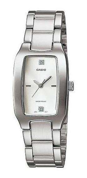 Relógio Feminino Prateado Casio Ltp-1165a Original