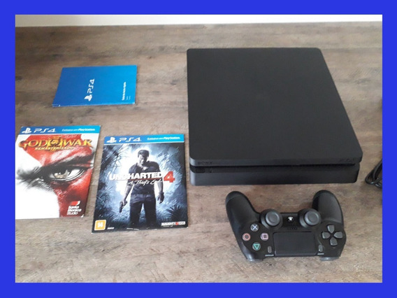 Playstation 4 500gb Ps4 Slim + 22 Jogos + Bivolt Sony Play 4