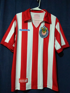 Club Guadalajara Chivas Jersey 1960/'s Campeonisimo Retro Long Sleeve Jersey L