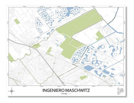 Mapa Ciudad Ingeniero Maschwitz 80cmx61cm