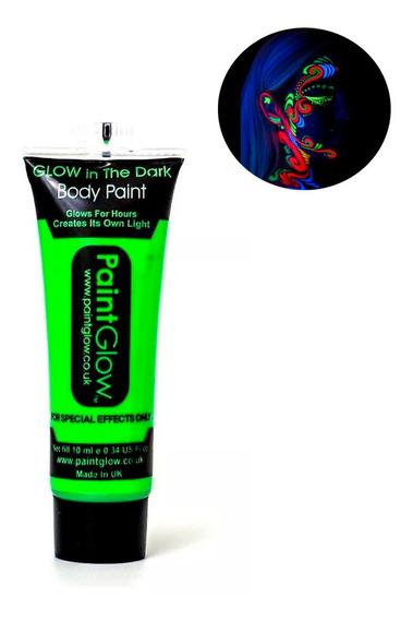 Pintura Maquillaje Neon Luminosa Brilla Con Luz Uv Frluoresc