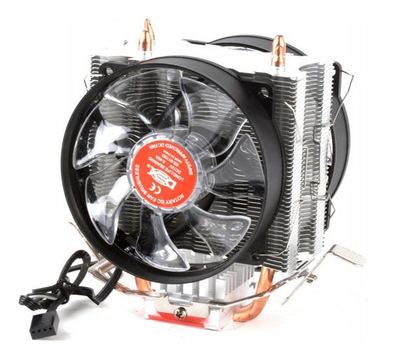 Cooler Duplo Dual Fan Pc Intel Amd 775 1151 1155 Am3+ Branco