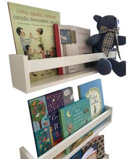 Prateleiras Para Livros Infantil Kit 2pç Modelo Grande