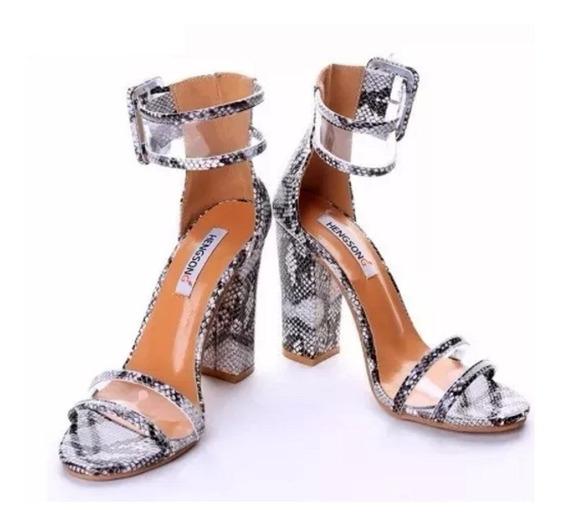 Sandalia Feminino Importada Salto Alto Luxo Peep Toe