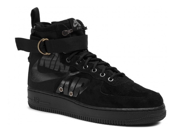 Liquidação! Tênis Nike Air Force 1 Mid Triple Black Original
