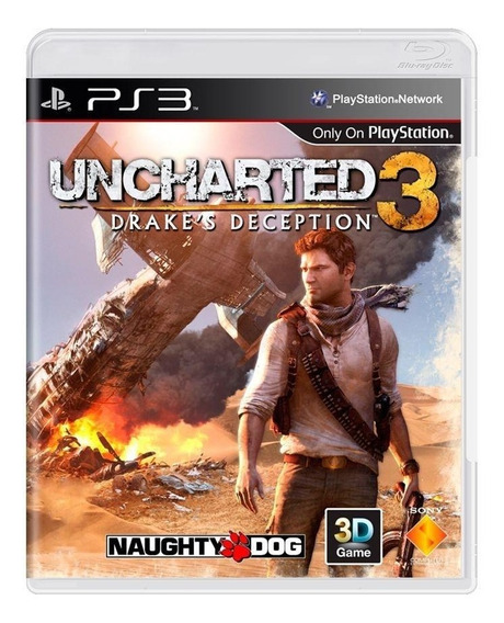 Uncharted 3 Drakes Deception Ps3 Mídia Física Pronta Entrega